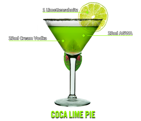 Coca Lime Pie Cocktail